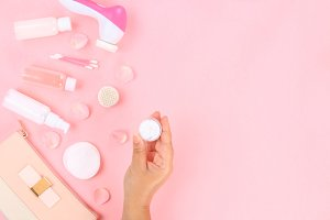 Skincare beauty treatment plant-base