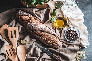 Country Bread Still Life