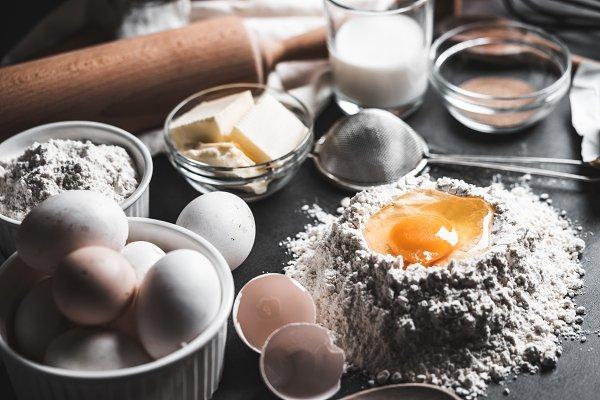 Food Stock Photos: Viktor Hanacek - Ingredients for Homemade Baking