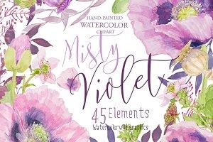 Misty Violet-Clipart pack