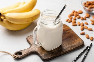 Banana protein smoothie!