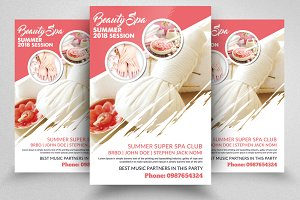 Spa Treatment Psd Flyer Template