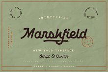 Marshfield Typeface by  in Display Fonts