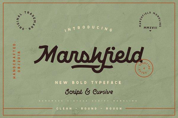 Display Fonts: Adam Fathony - Marshfield Typeface