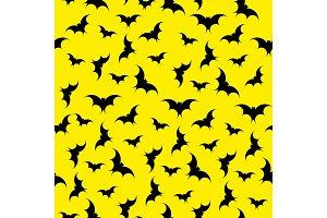 Bats seamless background. Halloween