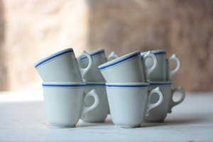 French Vintage Bistro Cups