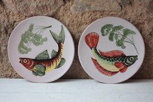 Vintage Majolica Fish Plates