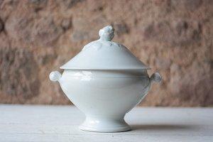 Vintage White Porcelain Tureen