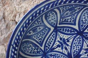 Moroccan Earthenware Vintage Bowl
