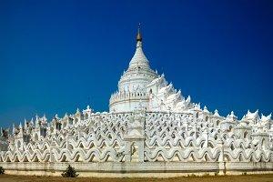 Hsinbyume pagoda aka White temple in