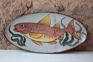 Vintage Vallauris Fish Platter