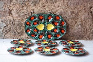 Vallauris Vintage Oyster Plates