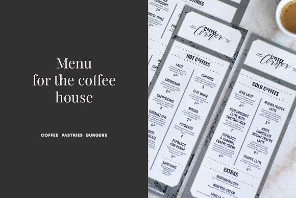 Coffee Menu Template Flyer Templates Creative Market