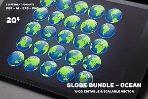 Globe Bundle - Ocean