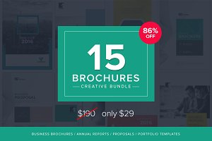 15 Brochures - Creative Bundle