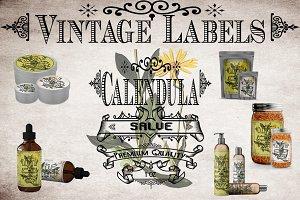 Calendula Vintage Labels
