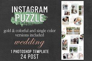 Instagram Puzzle Template - Wedding