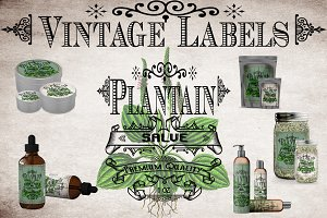 Plantain Vintage Labels