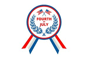 Badge for Independence day of USA
