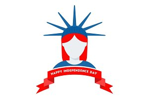Logo for Independence day of USA