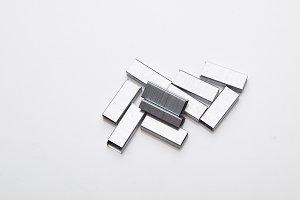 Metal staples for stapler