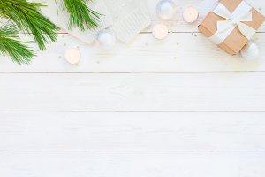 Light white holiday background
