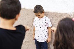 Two kids making bullying