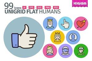 UniGrid Flat Humans