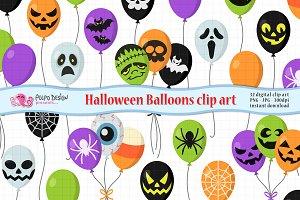 Halloween Balloons clipart