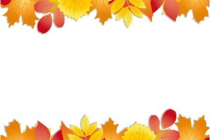 Colorful autumn template with leaves