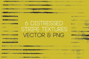 6 Distressed Stripe Texture Vectors