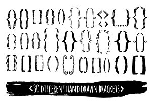 30 hand drawn EPS brackets pack