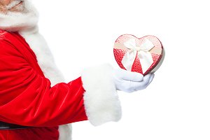Christmas. Santa Claus in white
