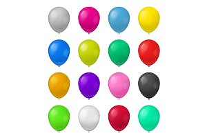 3d Color Balloons Set