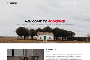 Florence - One-Page Template