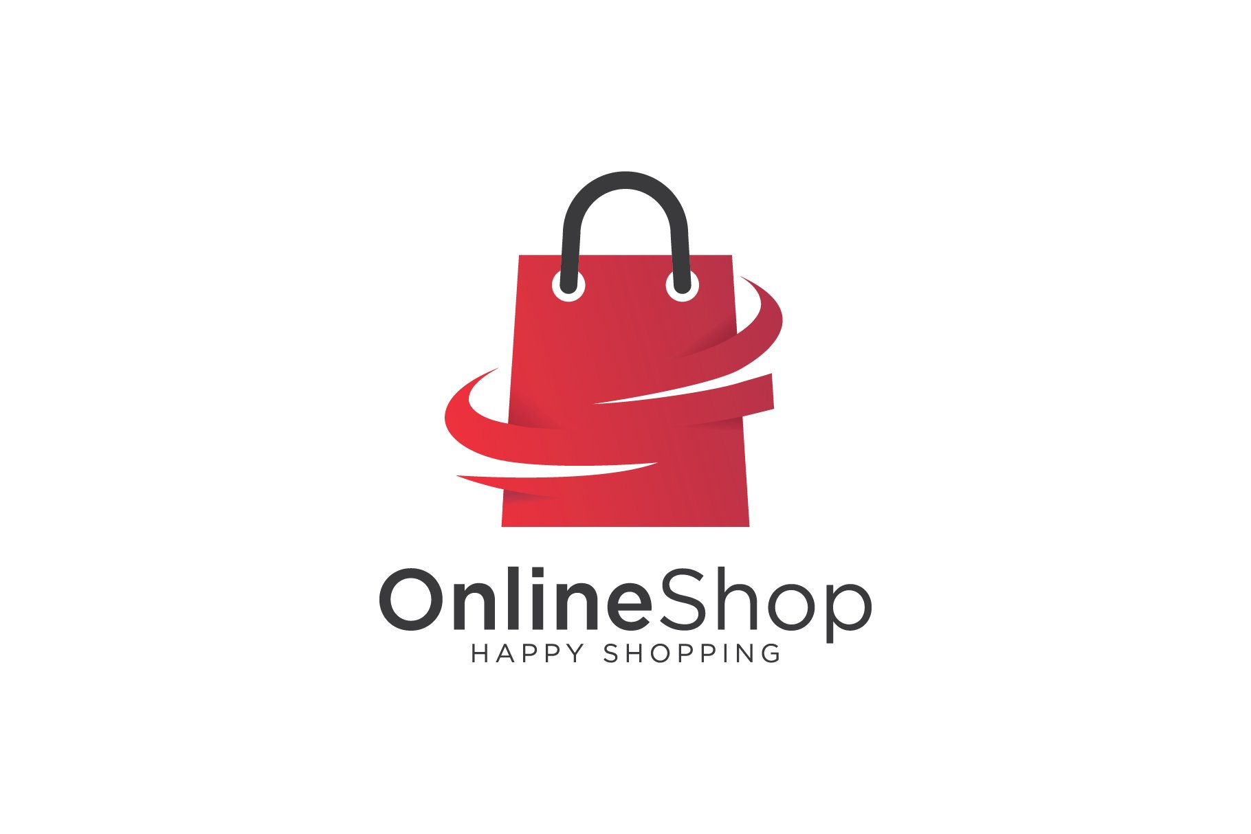 Online shop logo logo templates creative market for Design online shop