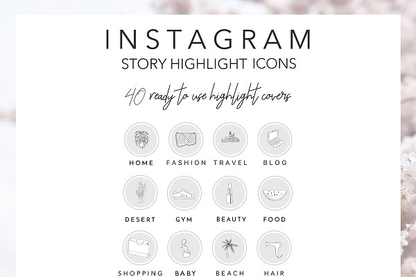 40 instagram story icons in colour custom designed icons creative market 40 instagram story icons in colour