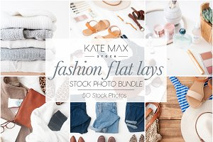 Fashion Flat Lays Photo Stock Bundle