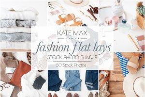 Fashion Flat Lays Photo Stock Bundle