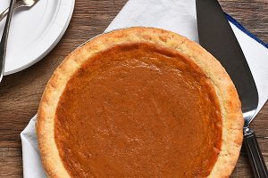 Pumpkin Pie Still Life