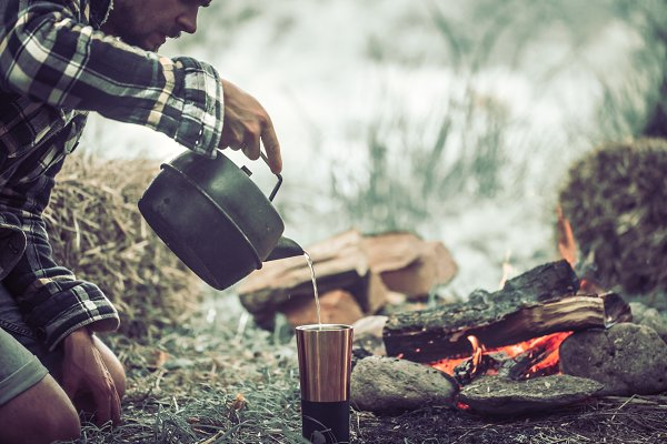 People Stock Photos - the concept of camping
