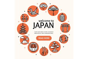 Japan Travel and Tourism Concept