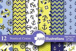 Nautical Digital Papers,  AMB-519