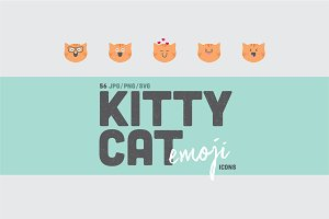56 Cat Emoji Icons & Patterns