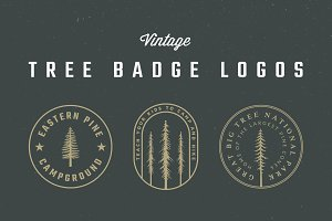 Vintage Tree Badge Logos
