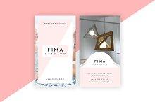 Fima Fashion - Minimal Business Card
