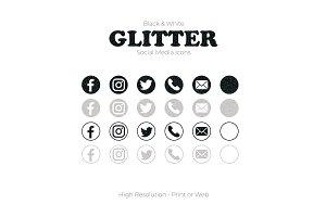 Glitter Black & White Social Media