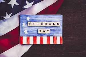Beautiful Greeting Card on Veterans