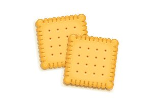 Two delicious biscuit.