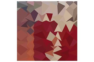 Antique Ruby Abstract Low Polygon Ba